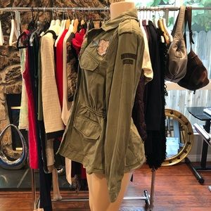 Abercrombie & Fitch Jackets & Coats - •ABERCROMBIE & FITCH• Green Army Utility Jacket
